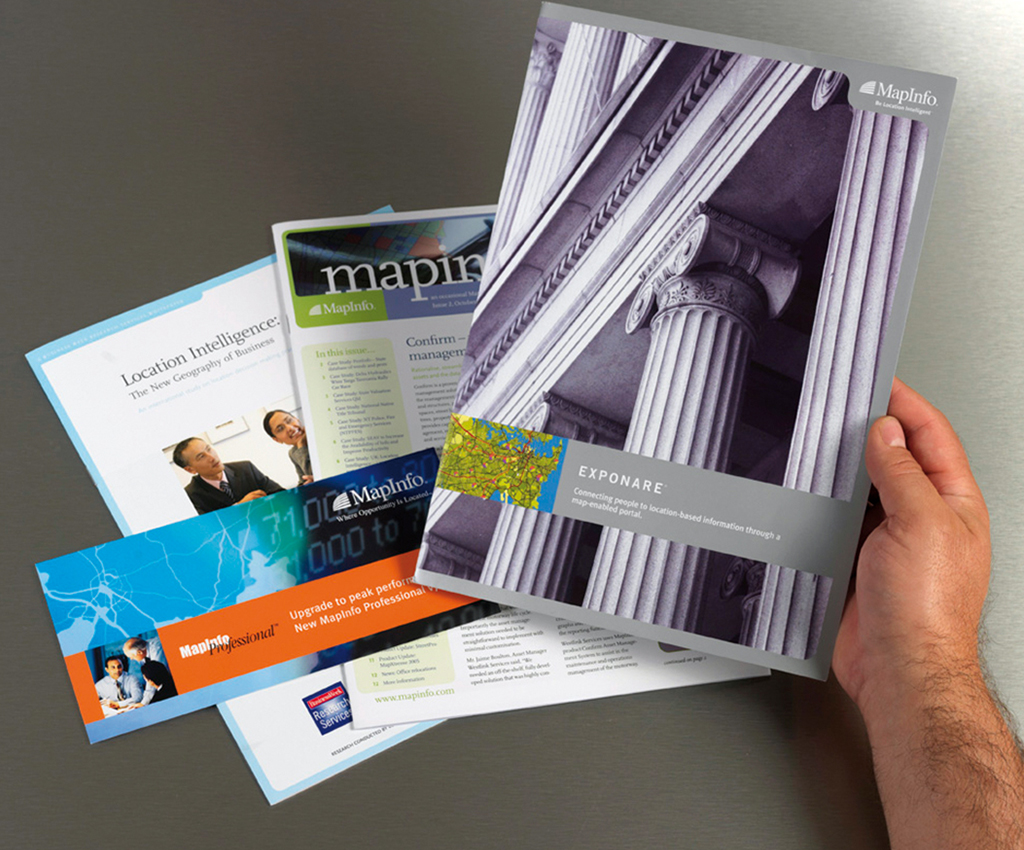 MapInfo promotion collateral