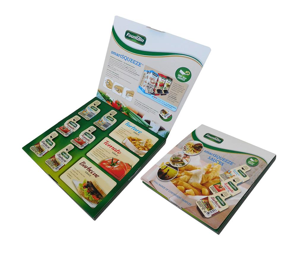 Fountain product sample box